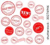 sale stamp vector set | Shutterstock .eps vector #30276946