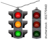 Old Traffic Light Hanging