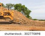 Industrial  Bulldozer Moving...