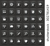 modern communication and online ... | Shutterstock .eps vector #302781419