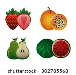 sweet fruits design  vector... | Shutterstock .eps vector #302785568