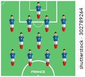 football soccer players...   Shutterstock .eps vector #302789264