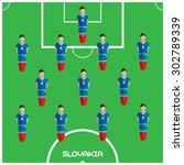 football soccer players... | Shutterstock .eps vector #302789339
