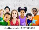 diversity children friendship...   Shutterstock . vector #302800430