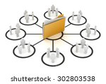 file sharing concept   this is... | Shutterstock . vector #302803538