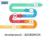 modern arrow info graphics... | Shutterstock .eps vector #302808524