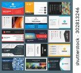 set of modern creative and...   Shutterstock .eps vector #302813246