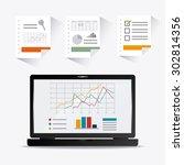 spreadsheet digital design ... | Shutterstock .eps vector #302814356