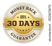 gold 30 days money back badge... | Shutterstock .eps vector #302825870