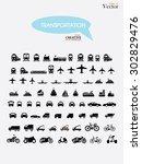 transport icons.transportation .... | Shutterstock .eps vector #302829476
