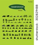 transport icons.transportation .... | Shutterstock .eps vector #302829488