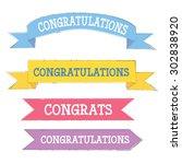 congratulations banner in...   Shutterstock .eps vector #302838920