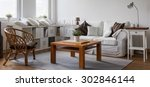 panorama of neat furnished new... | Shutterstock . vector #302846144