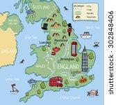 Cartoon Vector Doodle Map Of...