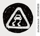 slippery when wet doodle   Shutterstock .eps vector #302854838