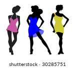 three models | Shutterstock .eps vector #30285751