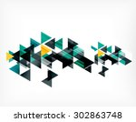 triangle pattern composition ... | Shutterstock . vector #302863748