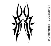 tribal tattoo vector design... | Shutterstock .eps vector #302868434