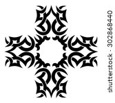 tattoo tribal cross designs.... | Shutterstock .eps vector #302868440