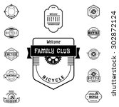 bicycle badges logos and labels ... | Shutterstock .eps vector #302872124
