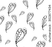 seamless pattern consisting of... | Shutterstock .eps vector #302877434