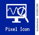 monitoring pixel icon. desktop...