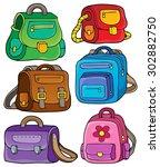 school bags theme set 1   eps10 ... | Shutterstock .eps vector #302882750