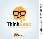 think geek creative logo... | Shutterstock .eps vector #302884286