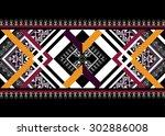 geometric ethnic pattern design ... | Shutterstock .eps vector #302886008