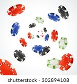 vector illustration pocker... | Shutterstock .eps vector #302894108