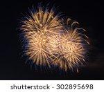 beautiful fireworks show | Shutterstock . vector #302895698