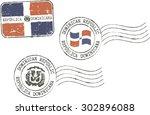 set of grunge postal stamps '...
