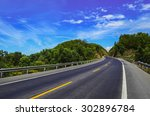 Curve Road In Various Of...