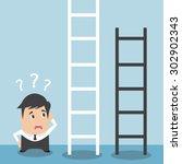 choose the fixed ladder   Shutterstock .eps vector #302902343