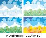 garden seasons | Shutterstock .eps vector #30290452