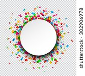 colorful celebration background.... | Shutterstock .eps vector #302906978
