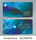 stylish business cards with... | Shutterstock .eps vector #302908940