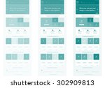 responsive web elements for... | Shutterstock .eps vector #302909813