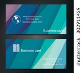 stylish business cards with... | Shutterstock .eps vector #302911439