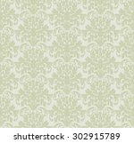 seamless damask pattern. vector ... | Shutterstock .eps vector #302915789