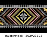 geometric ethnic pattern design ... | Shutterstock .eps vector #302923928