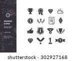 awards icons. vector set of... | Shutterstock .eps vector #302927168