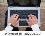 close up picture of male hands... | Shutterstock . vector #302928110