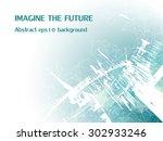 abstract vector background.... | Shutterstock .eps vector #302933246