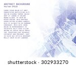 abstract vector background.... | Shutterstock .eps vector #302933270