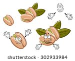 funny roasted pistachio seeds... | Shutterstock .eps vector #302933984