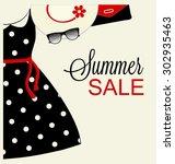 typographic poster design  ... | Shutterstock .eps vector #302935463
