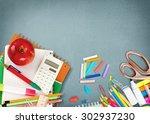 education  apple  book. | Shutterstock . vector #302937230