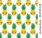 seamless pattern with smiling... | Shutterstock .eps vector #302939228