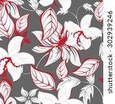 floral seamless pattern  ... | Shutterstock .eps vector #302939246